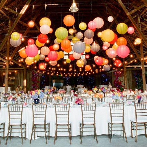 thème mariage coloré, sucré